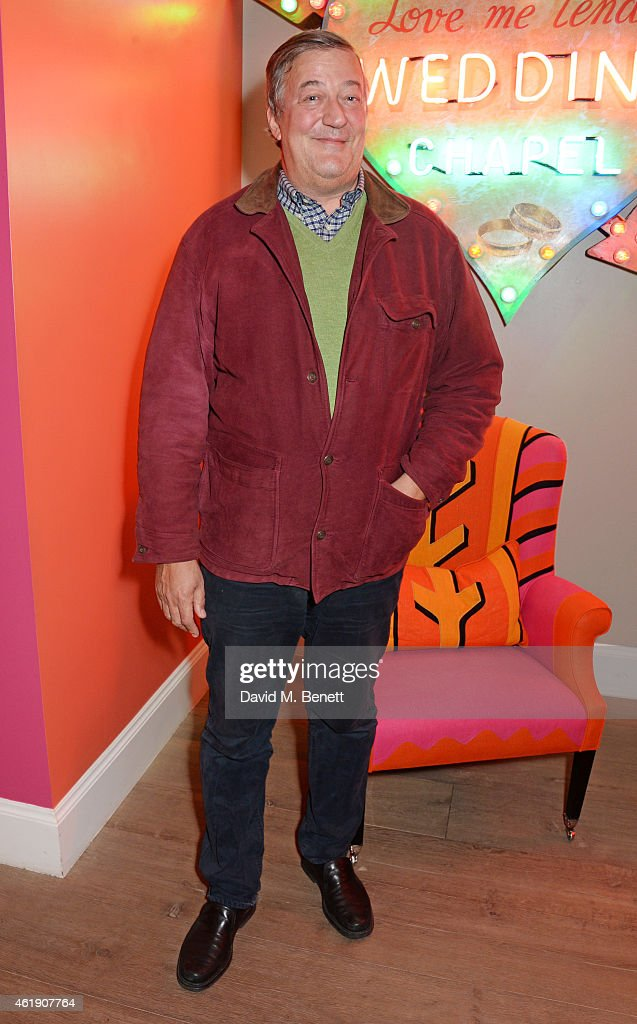 <a gi-track='captionPersonalityLinkClicked' href=/galleries/search?phrase=Stephen+Fry&family=editorial&specificpeople=210809 ng-click='$event.stopPropagation()'>Stephen Fry</a> attends a special screening of 'The Imitation Game' followed by a Q&A which he hosted at The Ham Yard Hotel on January 21, 2015 in London, England.