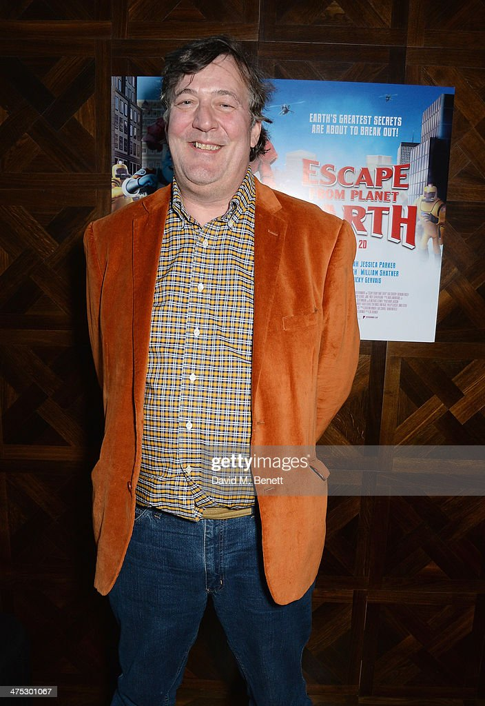 <a gi-track='captionPersonalityLinkClicked' href=/galleries/search?phrase=Stephen+Fry&family=editorial&specificpeople=210809 ng-click='$event.stopPropagation()'>Stephen Fry</a> attends a VIP screening of Harvey Weinstein's 'Escape From Planet Earth' at The W Hotel on February 27, 2014 in London, England.