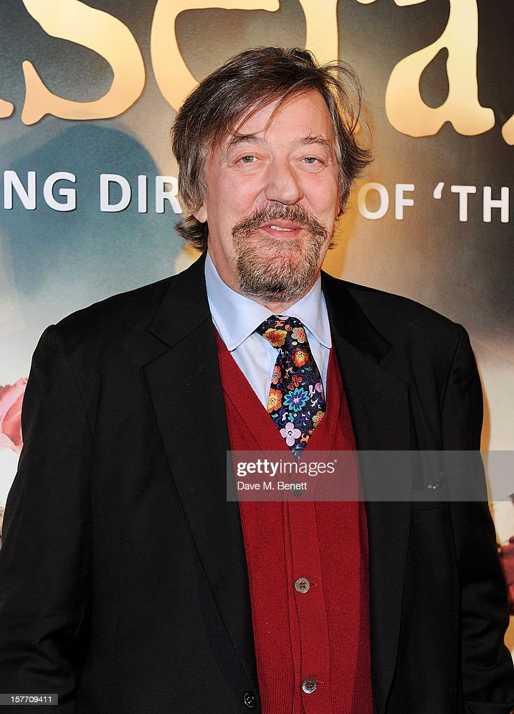 Stephen Fry attends an after party following the World Premiere of 'Les Miserables' at The Roundhouse on December 5, 2012 in London, England.