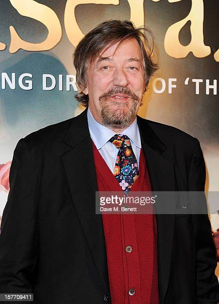 Stephen Fry attends an after party following the World Premiere of 'Les Miserables' at The Roundhouse on December 5 2012 in London England