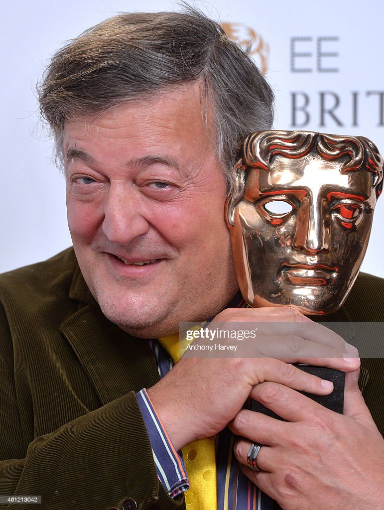 <a gi-track='captionPersonalityLinkClicked' href=/galleries/search?phrase=Stephen+Fry&family=editorial&specificpeople=210809 ng-click='$event.stopPropagation()'>Stephen Fry</a> attends as the nominations for the EE British Academy Film Awards are announced at BAFTA on January 9, 2015 in London, England. The awards take place on Sunday February 8th, 2015.