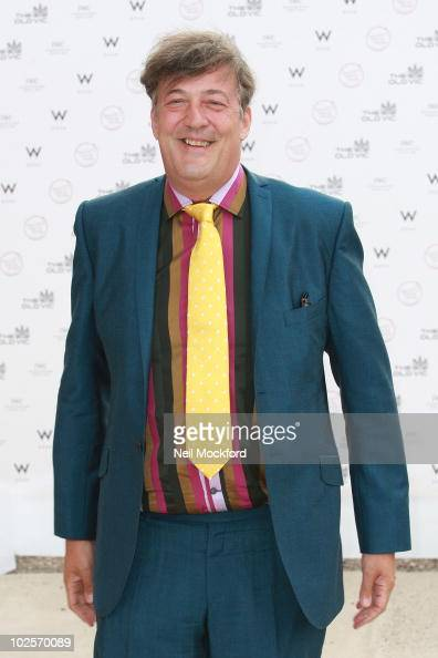 Stephen Fry attends summer fundraising party for The Old Vic Theatre at Battersea Power station on July 1 2010 in London England