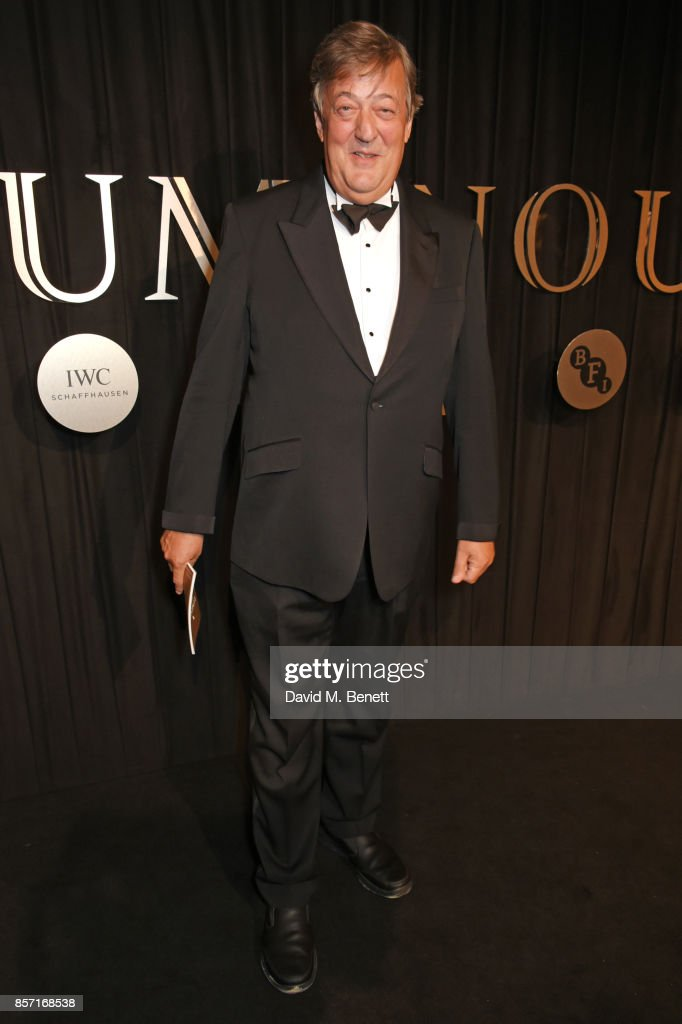 Stephen Fry attends the BFI and IWC Luminous Gala at The Guildhall on October 3, 2017 in London, England.