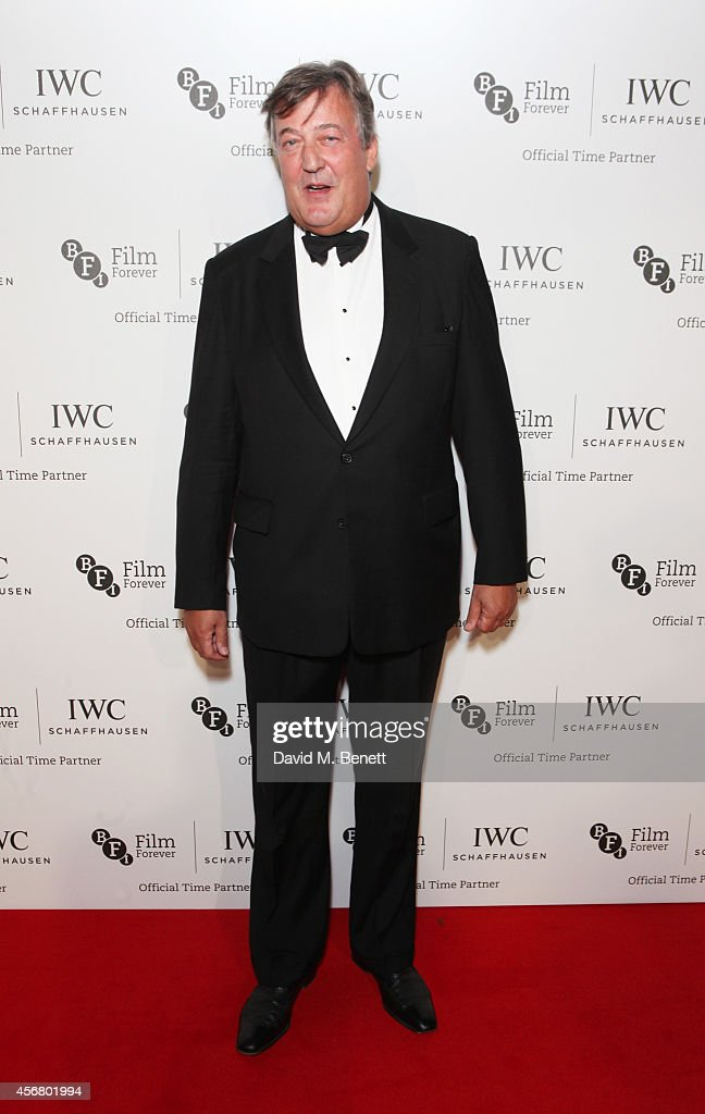 <a gi-track='captionPersonalityLinkClicked' href=/galleries/search?phrase=Stephen+Fry&family=editorial&specificpeople=210809 ng-click='$event.stopPropagation()'>Stephen Fry</a> attends the BFI London Film Festival IWC Gala Dinner in honour of the BFI at Battersea Evolution Marquee on October 7, 2014 in London, England.