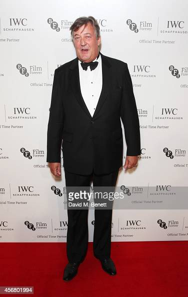 Stephen Fry attends the BFI London Film Festival IWC Gala Dinner in honour of the BFI at Battersea Evolution Marquee on October 7 2014 in London...