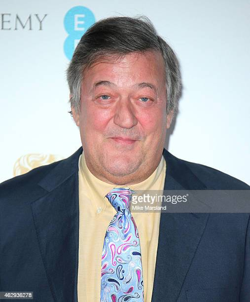 Stephen Fry attends the EE British Academy Awards nominees party at Kensington Palace on February 7 2015 in London England