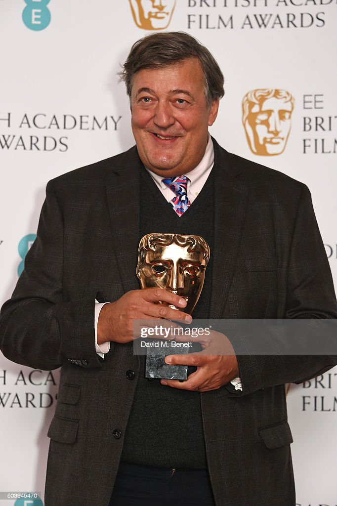 Stephen Fry attends the EE British Academy Film Awards nominations announcement at BAFTA Piccadilly on January 8, 2016 in London, England.