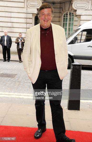 Stephen Fry attends the gala screening of 'Summer In February' at The Curzon Mayfair on June 10 2013 in London England