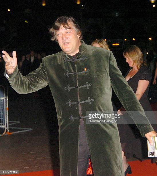 Stephen Fry during History Boys UK Film Premiere October 2 2006 at Odeon West End in London Great Britain