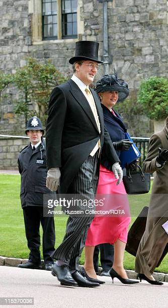 Stephen Fry during The Royal Wedding of HRH Prince Charles and Mrs Camilla Parker Bowles The Blessing Ceremony Arrivals at St George's Chapel in...