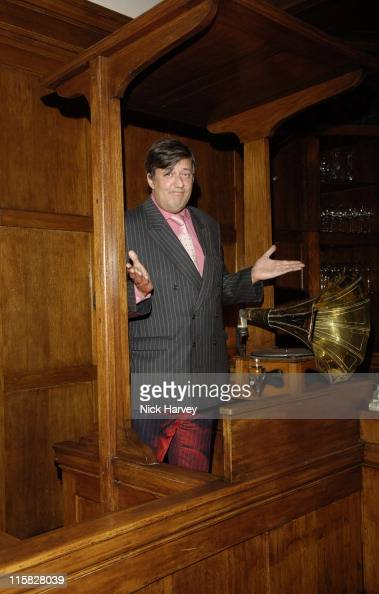 Stephen Fry standing inside the same witness box that Oscar Wilde stood on the anniversary of the author being sentenced to two years hard labour for...