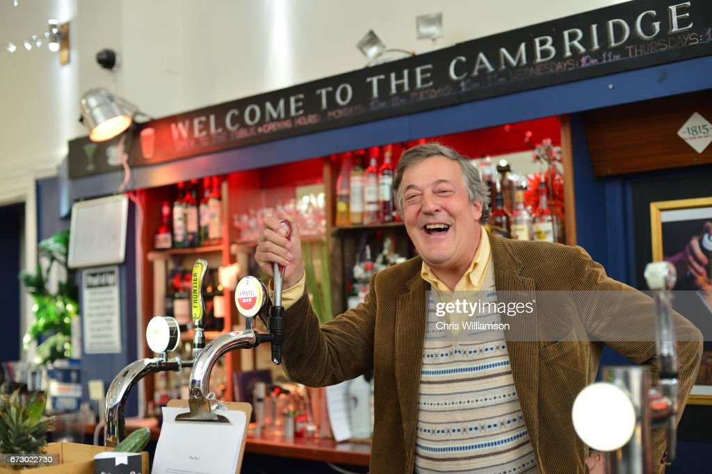 Stephen Fry talks about Mental Health at The Cambridge Union on April 25, 2017 in Cambridge, Cambridgeshire.