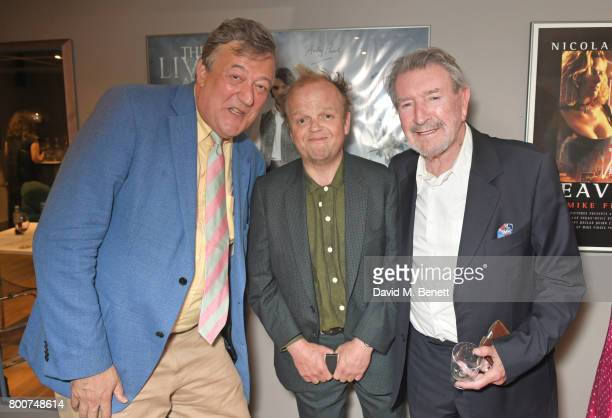 Stephen Fry Toby Jones and Gawn Grainger attend the BFI Southbank's tribute to Sir John Hurt on June 25 2017 in London England