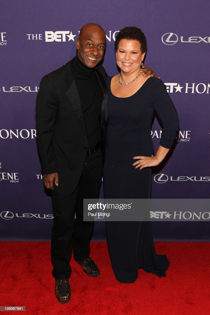 Stephen G. Hill and Debra Lee attend BET Honors 2013: Red Carpet Presented By Pantene at Warner Theatre on January 12, 2013 in Washington, DC.