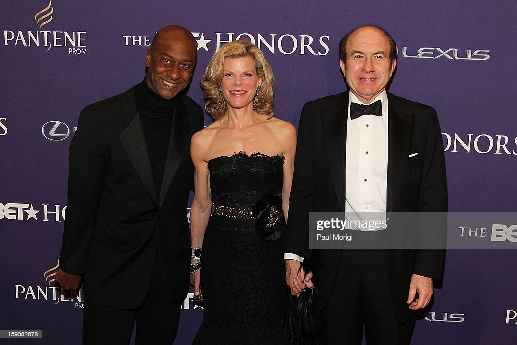 Stephen G. Hill, Philippe Dauman and Deborah Dauman attend BET Honors 2013: Red Carpet Presented By Pantene at Warner Theatre on January 12, 2013 in Washington, DC.