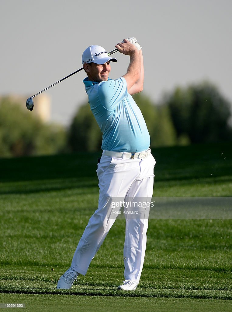 Stephen Gallacher of Scotland during the Champions Challenge prior to the Omega Dubai Desert Classic on the Majlis Course on January 28, 2014 in Dubai, United Arab Emirates.