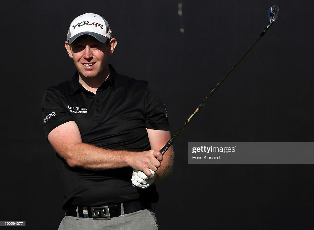 Stephen Gallacher of Scotland during the final round of the Omega Dubai Desert Classic on February 3, 2013 in Dubai, United Arab Emirates.