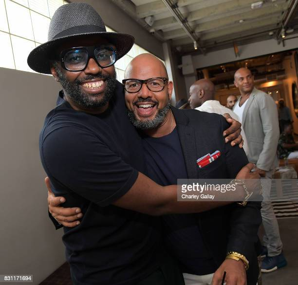 Stephen Galloway and Founder Native Son Emil Wilbekin attend Native Son Hosts Its First Los Angeles Event On August 13th Inpartnership with AIDS...