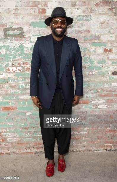 Stephen Galloway attends a closing reception for Reframed a silent auction benefiting ACRIA at Hauser Wirth on May 16 2017 in Los Angeles California