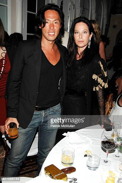 Stephen Gan and Lady Amanda Harlech attend CHANEL Private Dinner for KARL LAGERFELD at Casa Tua on May 14 2008 in Miami Beach FL