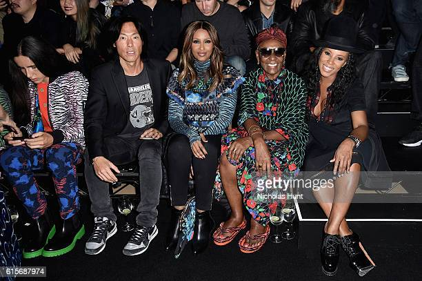 Stephen Gan Iman Bethann Hardison and June Ambrose attend the KENZO x HM Launch Event Directed By JeanPaul Goude' at Pier 36 on October 19 2016 in...