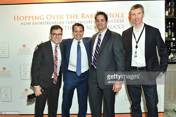Stephen Gandel Aaron Task Anthony Scaramucci and Bryan O'Keefe attend 'Hopping Over the Rabbit Hole' Anthony Scaramucci Book Party on October 27 2016...
