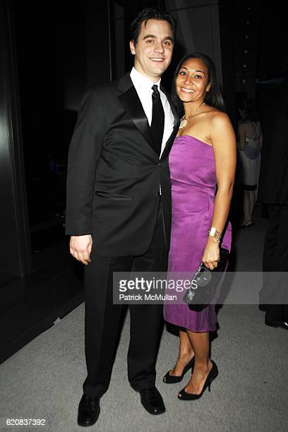 Stephen Glass and Monique Tean attend Amanda Hearst and Luigi Tadini host a benefit for Riverkeeper Junior Council at Hearst Tower on March 6 2008 in...