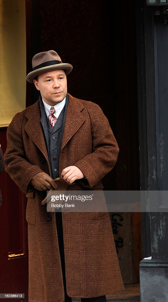 <a gi-track='captionPersonalityLinkClicked' href=/galleries/search?phrase=Stephen+Graham+-+Actor&family=editorial&specificpeople=12186264 ng-click='$event.stopPropagation()'>Stephen Graham</a> as 'Al Capone' filming on location for 'Boardwalk Empire' on February 22, 2013 in the Staten Island borough of New York City.