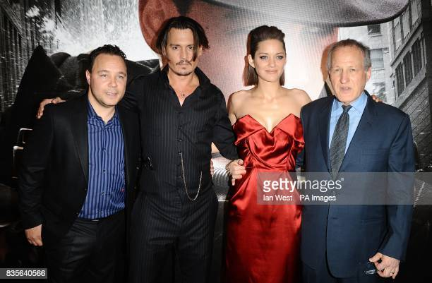 Stephen Graham Johnny Depp Marion Cotillard and Michael Mann arriving for the European premiere of Public Enemies at the Empire Leicester Square...