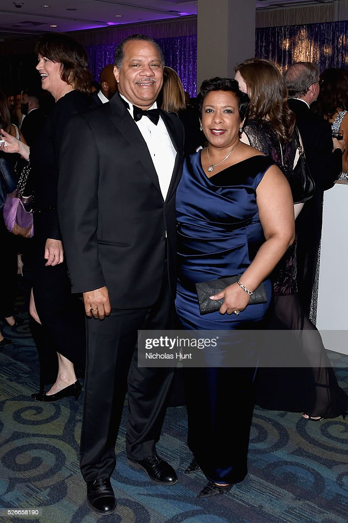 Stephen Hargrove (L) and Attorney General of the United States, Loretta Lynch attend the Yahoo News/ABC News White House Correspondents' Dinner Pre-Party at Washington Hilton on April 30, 2016 in Washington, DC.