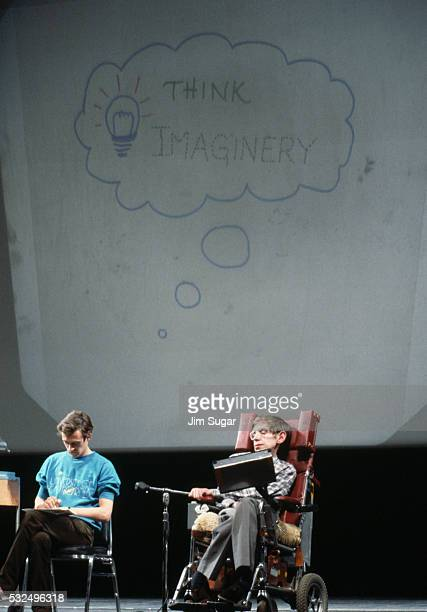 Stephen Hawking at a Lecture