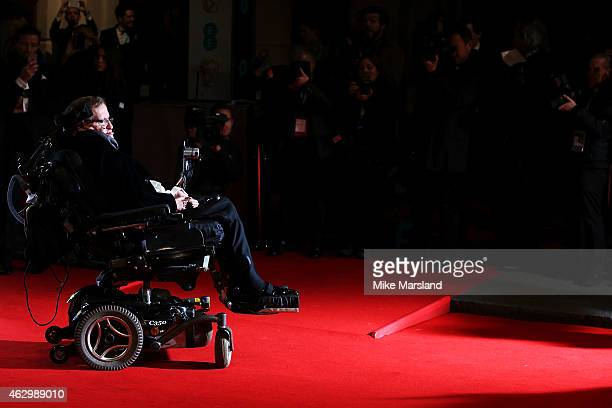 Stephen Hawking attends the EE British Academy Film Awards at The Royal Opera House on February 8 2015 in London England