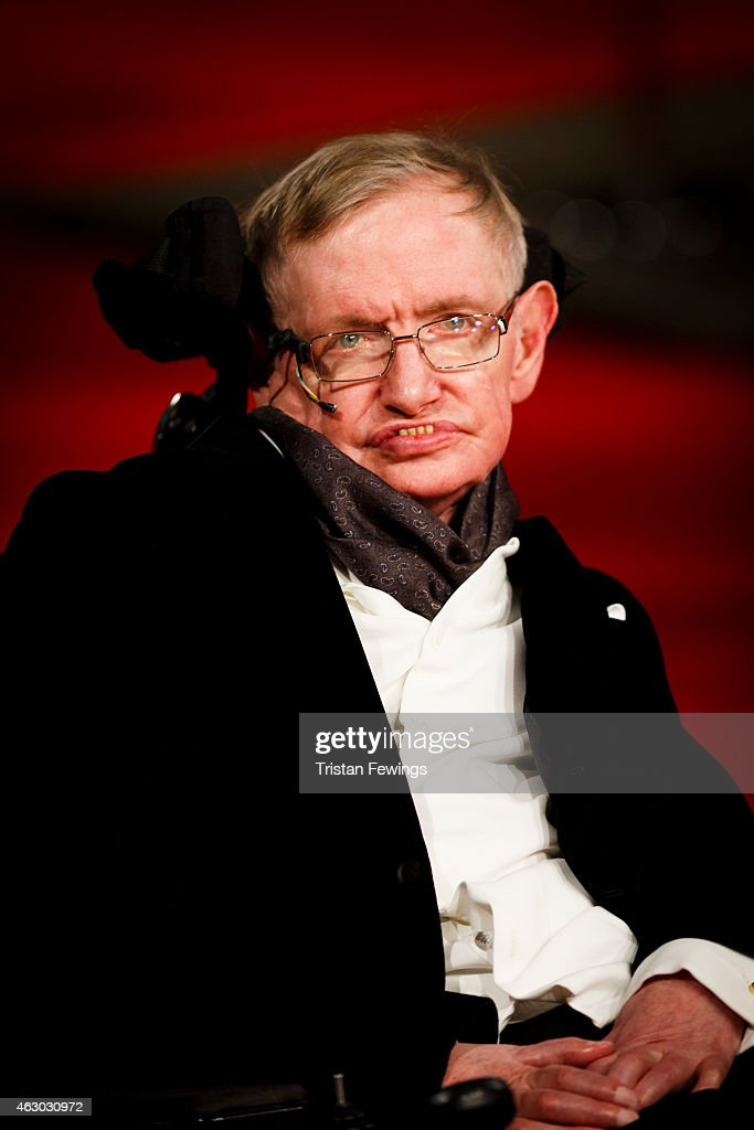 <a gi-track='captionPersonalityLinkClicked' href=/galleries/search?phrase=Stephen+Hawking&family=editorial&specificpeople=215281 ng-click='$event.stopPropagation()'>Stephen Hawking</a> attends the EE British Academy Film Awards at The Royal Opera House on February 8, 2015 in London, England.