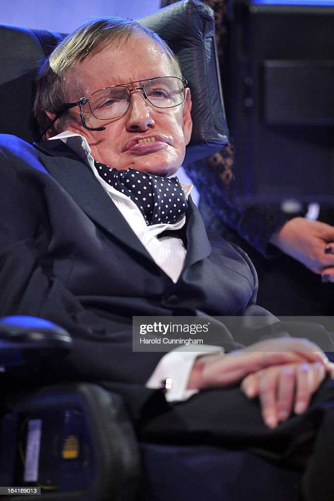 <a gi-track='captionPersonalityLinkClicked' href=/galleries/search?phrase=Stephen+Hawking&family=editorial&specificpeople=215281 ng-click='$event.stopPropagation()'>Stephen Hawking</a>, laureate of 2013 Physics Frontiers Prize, delivers a speech the Fundamental Physics Prize Foundation Inaugural Prize Ceremony at the CICG on March 20, 2013 in Geneva, Switzerland. The prize is today the most financially lucrative scientific prize in the world, with its nine Inaugural recipients to receive 27 million USD collectively, providing them more freedom and opportunity to pursue future accomplishment. Led by a not-for-profit corporation, the Fundamental Physics Prize Foundation dedicates itself to advance the knowledge of the Universe at the deepest level.