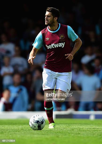 Stephen Hendrie of West Ham United in action during the pre season friendly match between Southend United and West Ham United at Roots Hall on July...