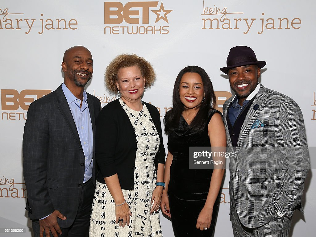 Stephen Hill, Debra Lee, Erica Shelton, Will Packer attend the Being Mary Jane premiere, screening, and party on January 9, 2017 in New York City.