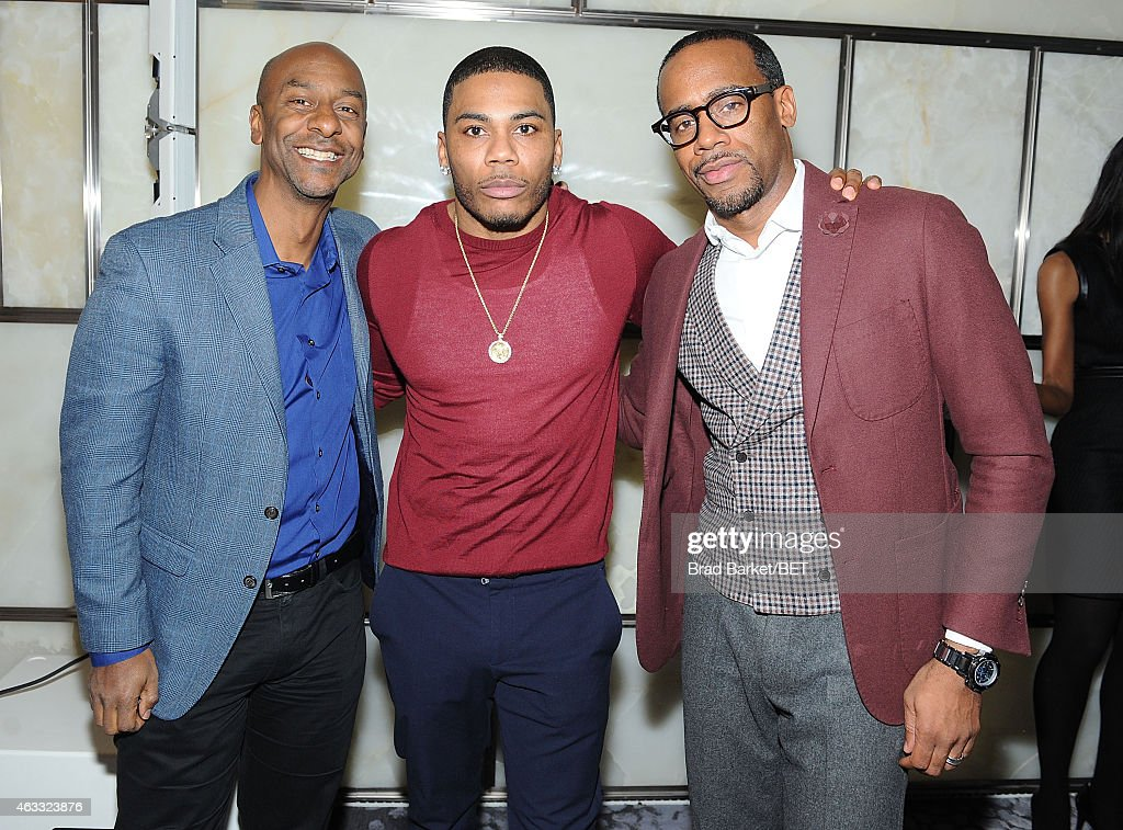 Stephen Hill Nelly and Jeff Johnson attends the HIS Official Launch Party on February 12 2015 in New York City