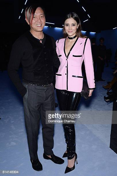 Stephen Hung and his wife Deborah ValdezHung attend the Giambattista Valli show as part of the Paris Fashion Week Womenswear Fall/Winter 2016/2017 on...