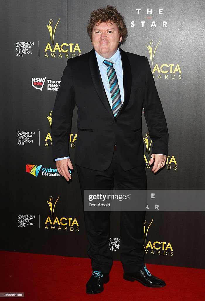 Stephen Hunter arrives at the 3rd Annual AACTA Awards Ceremony at The Star on January 30, 2014 in Sydney, Australia.