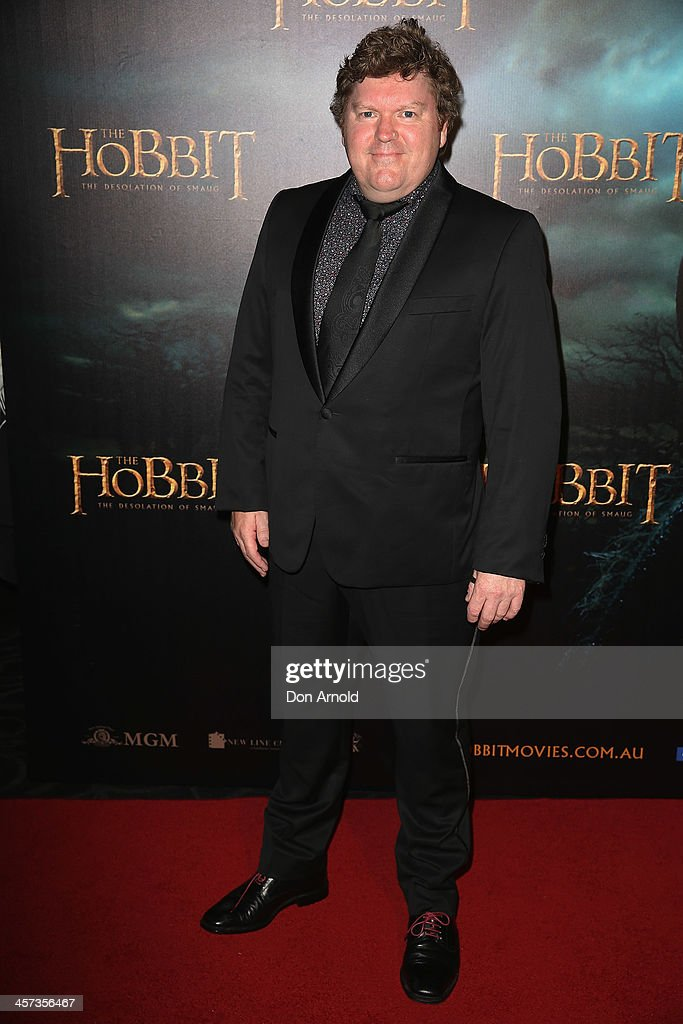 Stephen hunter poses during the Sydney premiere for The Hobbit: Demolition Of Smaug at Event Cinemas George Street on December 17, 2013 in Sydney, Australia.