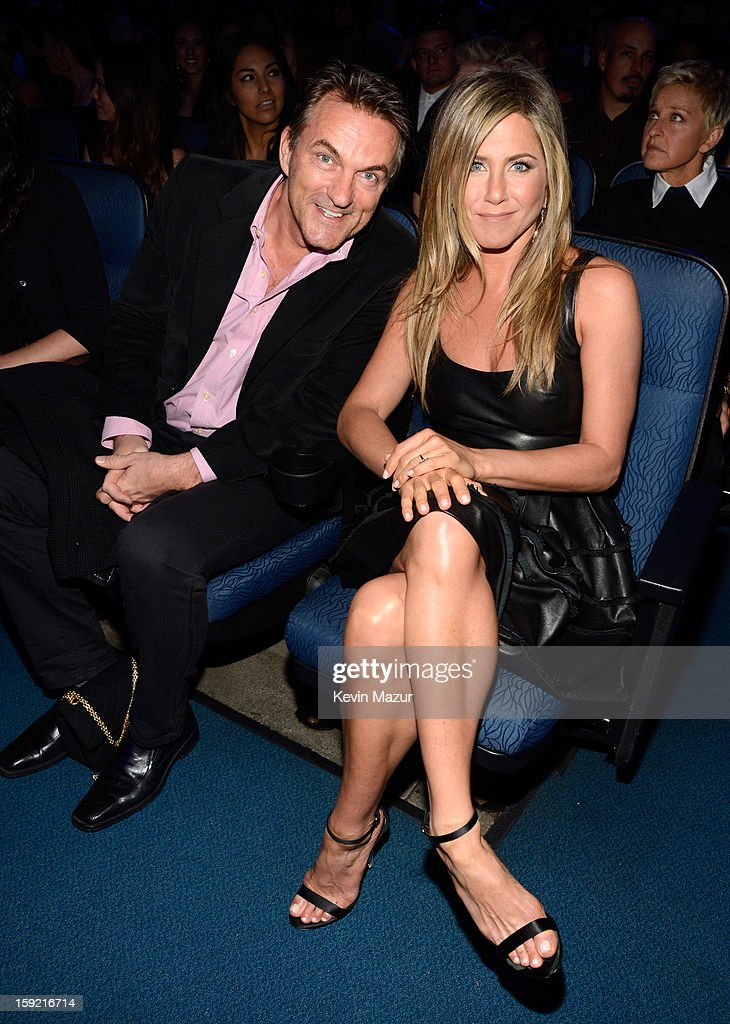 Stephen Huvane and Jennifer Aniston in the audience during 2013 People's Choice Awards at Nokia Theatre L.A. Live on January 9, 2013 in Los Angeles, California.