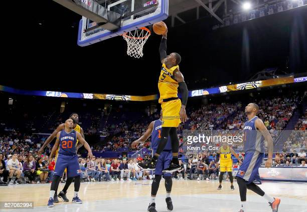 Stephen Jackson of Killer 3s dunks the ball during the game against 3's Company during week seven of the BIG3 three on three basketball leagueat Rupp...