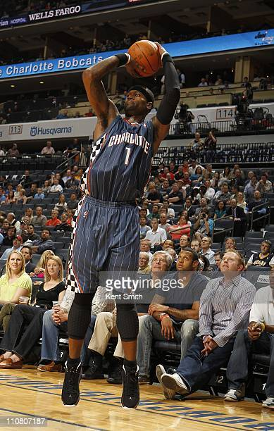 Stephen Jackson of the Charlotte Bobcats shoots the ball during the game against the Indiana Pacers on March 23 2011 at Time Warner Cable Arena in...