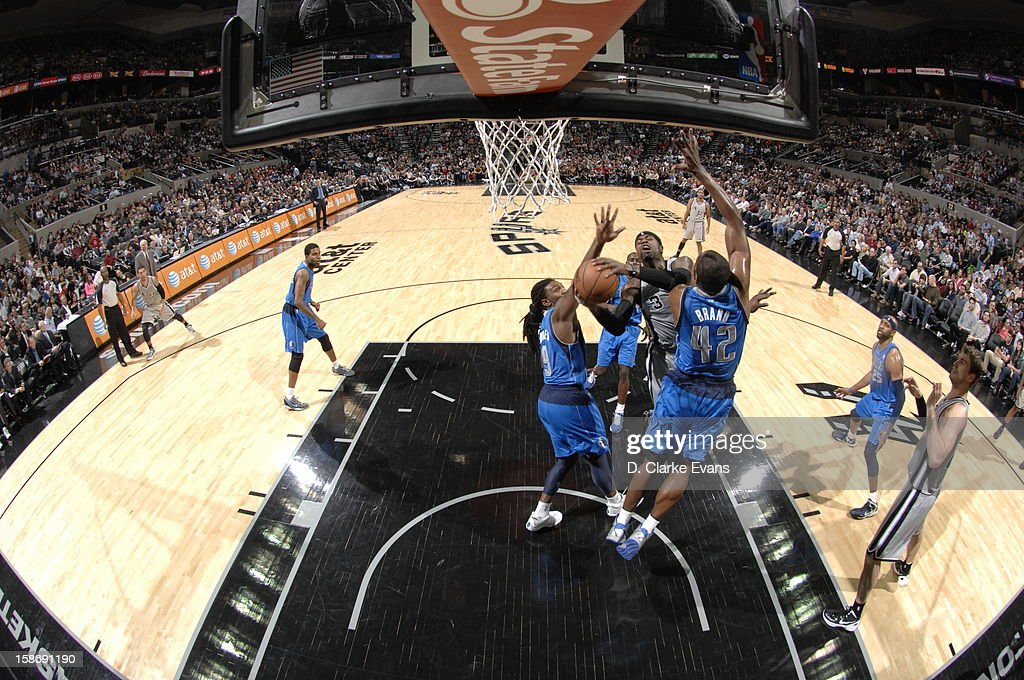 Stephen Jackson #3 of the San Antonio Spurs goes to the basket during the game between the Dallas Mavericks and the San Antonio Spurs on December 23, 2012 at the AT&T Center in San Antonio, Texas.