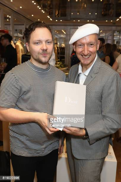 Stephen Jones and Alexander Fury attend the Dior cocktail party to celebrate the launch of Dior Catwalk by Alexander Fury on July 19 2017 in London...