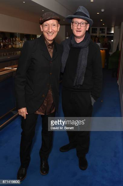 Stephen Jones and Craig West attend a dinner hosted by Jonathan Newhouse and Albert Read for Edward Enninful to celebrate the December issue of...