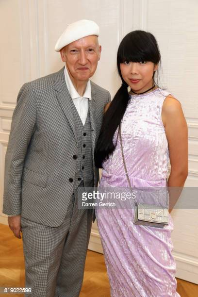 Stephen Jones and Susanna Lau attend the Dior cocktail party to celebrate the launch of Dior Catwalk by Alexander Fury on July 19 2017 in London...