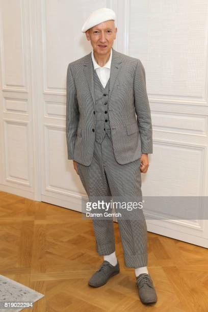 Stephen Jones attends the Dior cocktail party to celebrate the launch of Dior Catwalk by Alexander Fury on July 19 2017 in London England