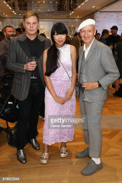 Stephen Jones Susanna Lau and Steven Phillip attend the Dior cocktail party to celebrate the launch of Dior Catwalk by Alexander Fury on July 19 2017...