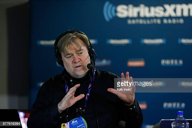 Stephen K Bannon talks with callers about Donald Trump officially becoming the Republican Presidential nominee while hosting Brietbart News Daily on...